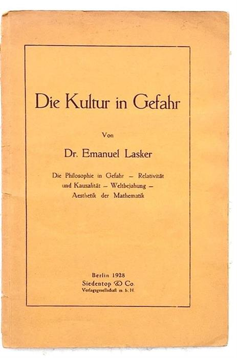 Exceptionally rare: The Culture in Danger. Relativity and Causality / Die Kultur in Gefahr, Berlin, 1928