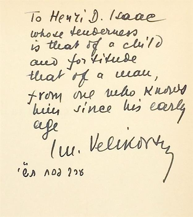 First Edition, First Printing -  Worlds in Collision [The Velikovsky Affair], Macmillan, 1950, Signed and Inscribed by Author