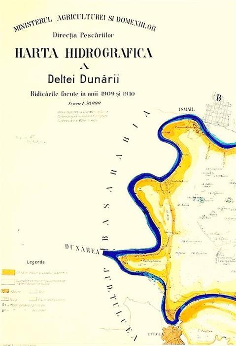 Harta Hidrografica A Deltei Dunarii 1909 1910 Directia Pescariilor