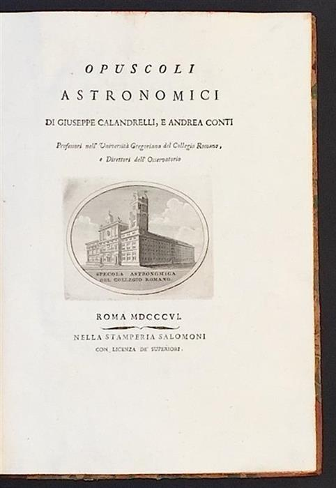 Opuscoli astronomici, 1806 - the title page