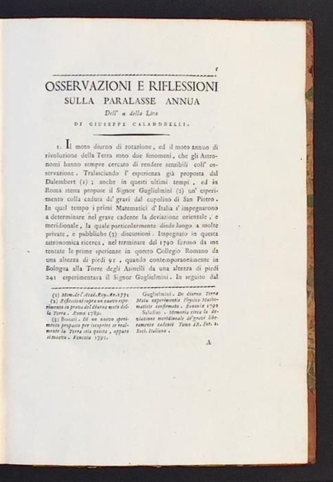 The first page of Calandrelli's paper