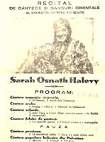 Program recital 1934 -  Sarah Osnath Halevy