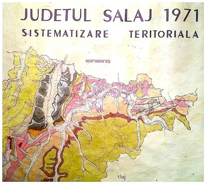 Harta Sistematizare Teritoriala Jud Salaj 1971